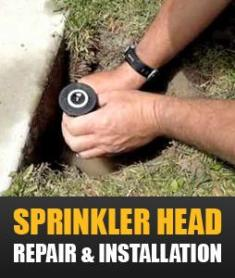 our team can handle any sprinkler head installation and repair